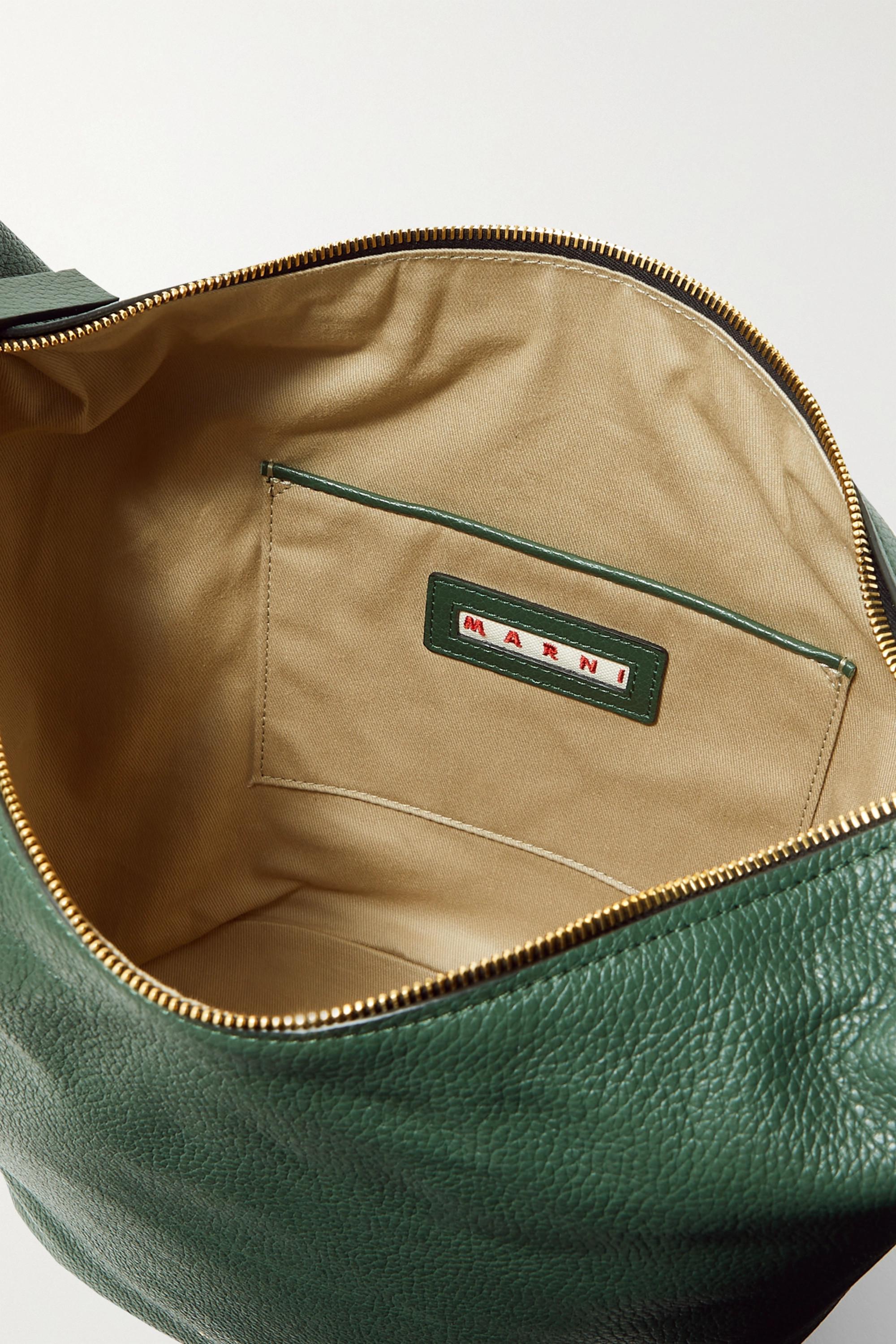 Marni Pierce small two-tone textured-leather tote