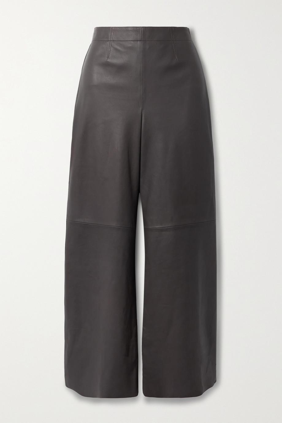 Theory Pantalon large en cuir