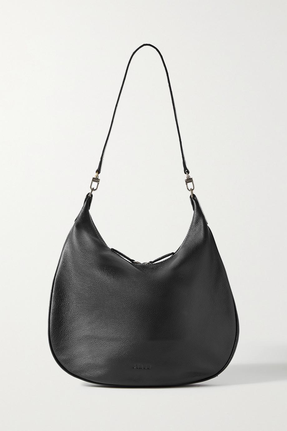 STAUD West textured-leather shoulder bag