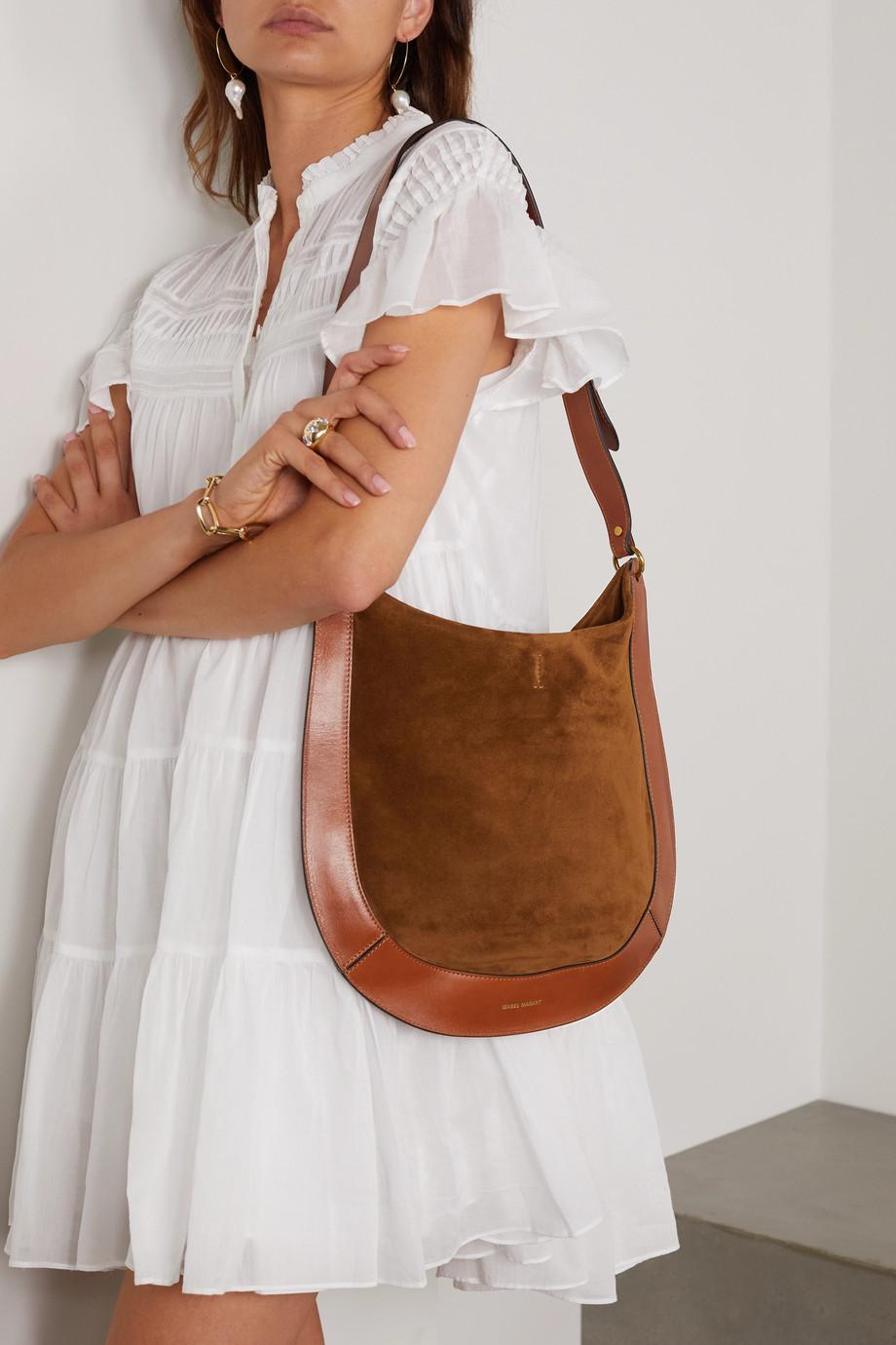 Isabel Marant Moskan leather and suede shoulder bag