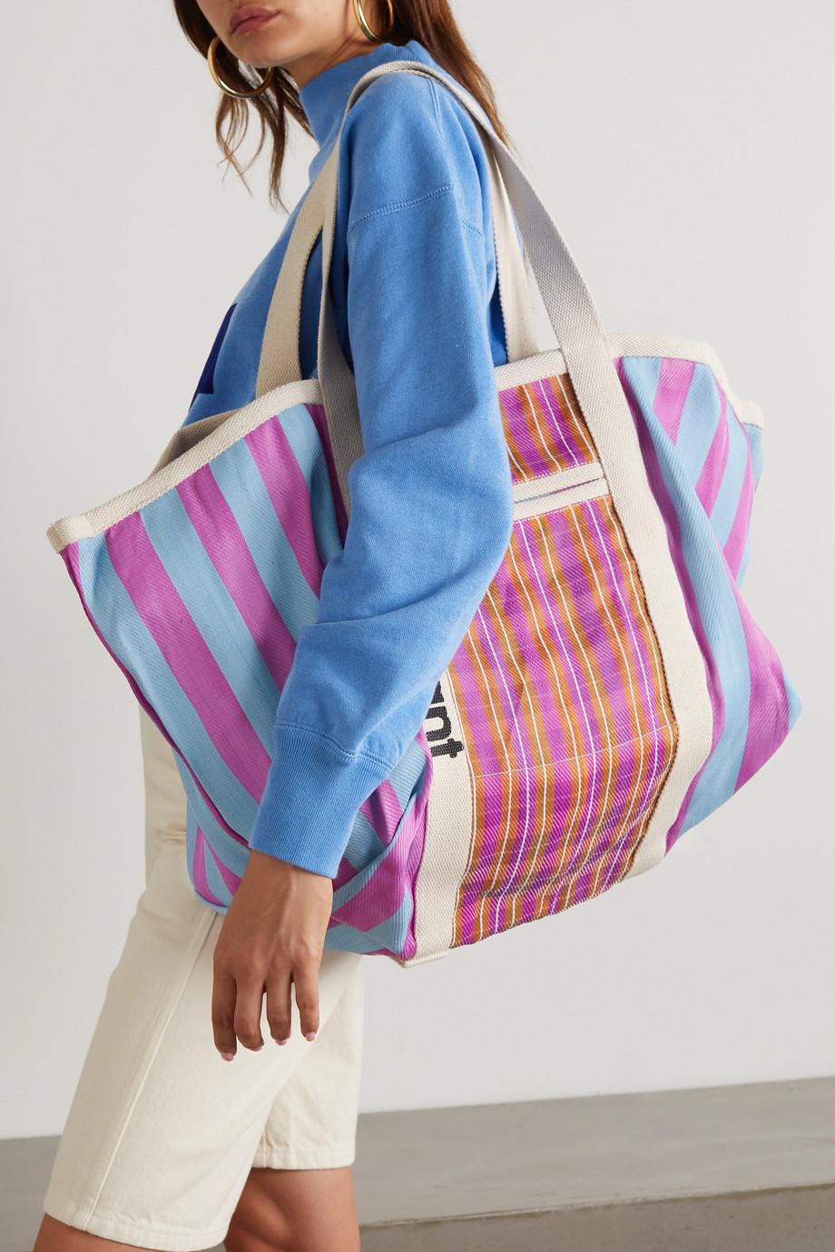 Isabel Marant Warden oversized printed nylon tote