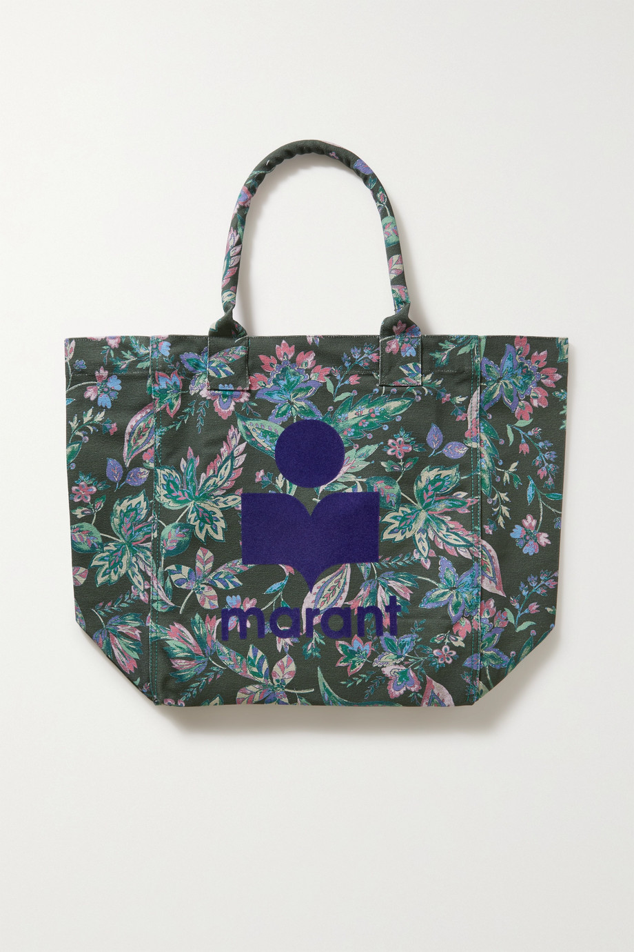 Isabel Marant Yenky flocked floral-print cotton-canvas tote