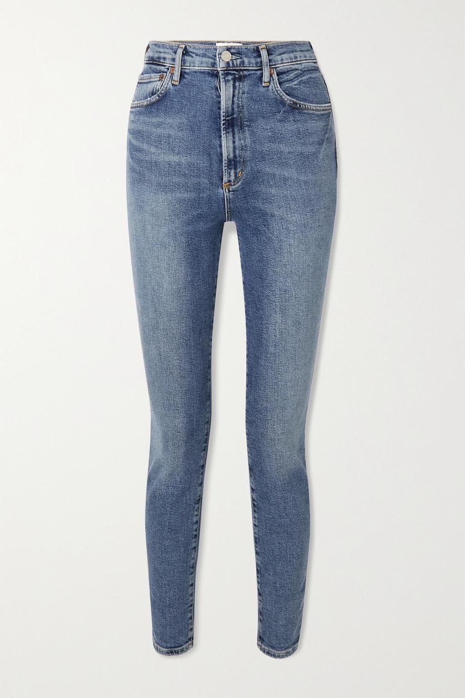AGOLDE + NET SUSTAIN Pinched Waist hoch sitzende Skinny Jeans