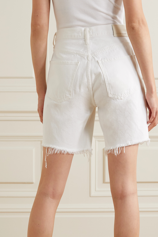 Citizens of Humanity Camilla frayed denim shorts