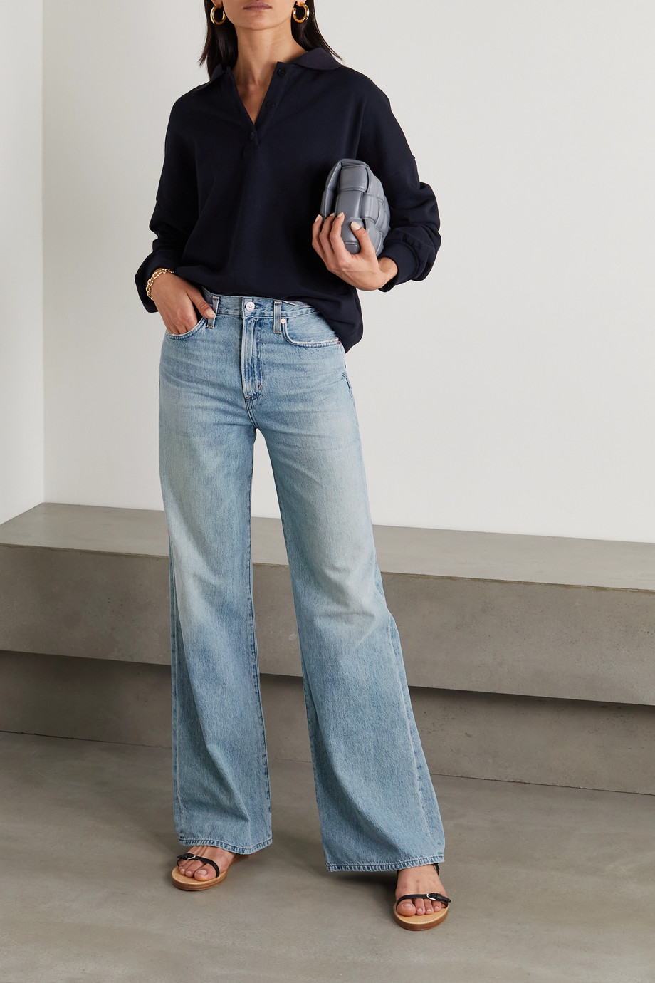 Citizens of Humanity Rosanna organic high-rise wide-leg jeans