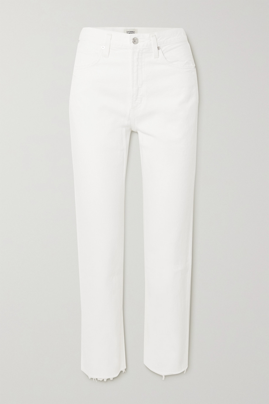 Citizens of Humanity Daphne cropped high-rise straight-leg jeans