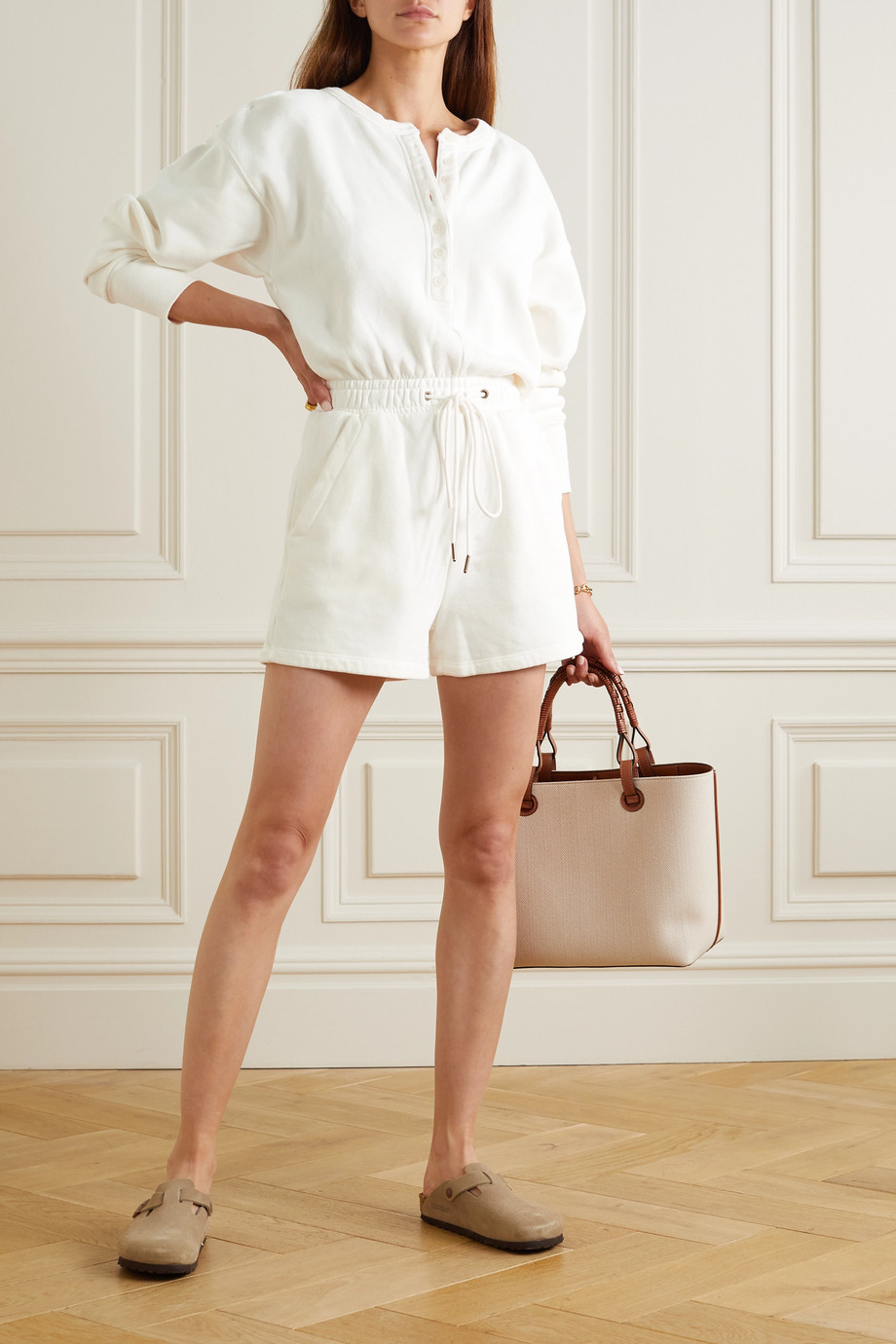 Citizens of Humanity Loulou cotton-fleece playsuit