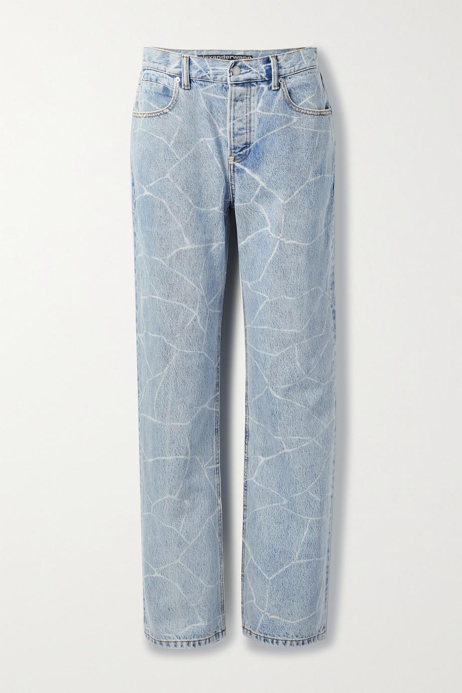 Alexander Wang Printed low-rise boyfriend jeans