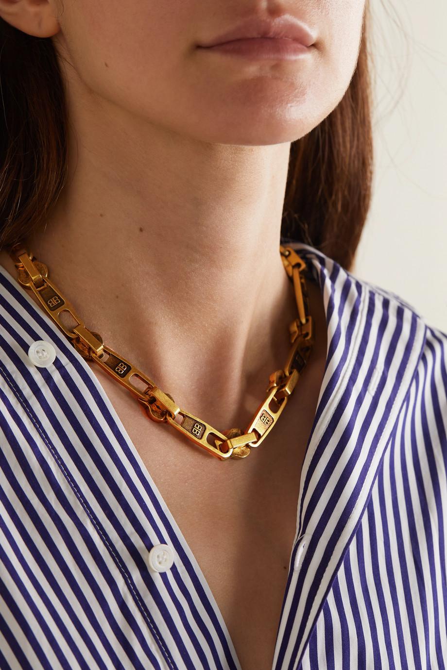 Balenciaga Collier doré Zip