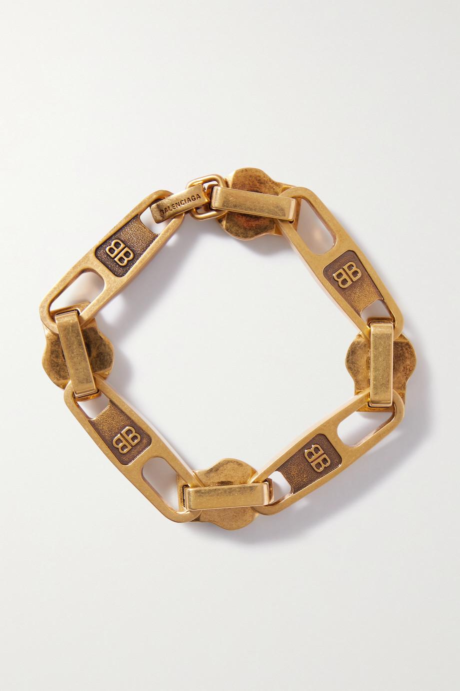 Balenciaga Bracelet doré Zip