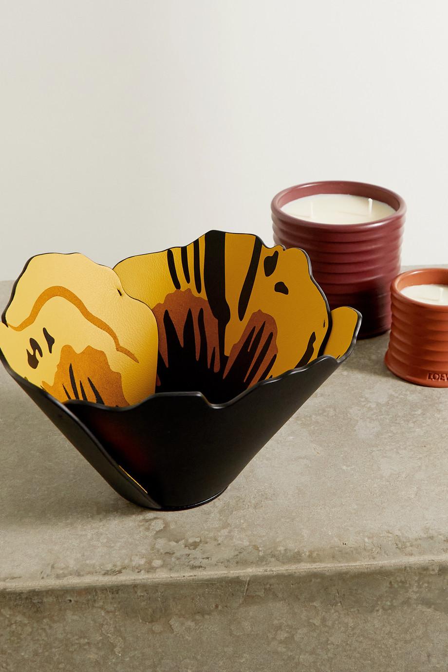 Loewe Floral-print leather vase