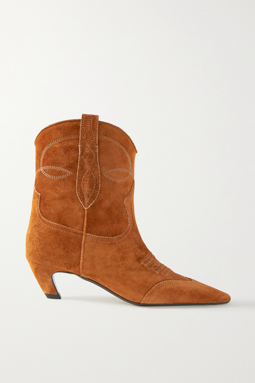 Khaite - Dallas suede ankle boots