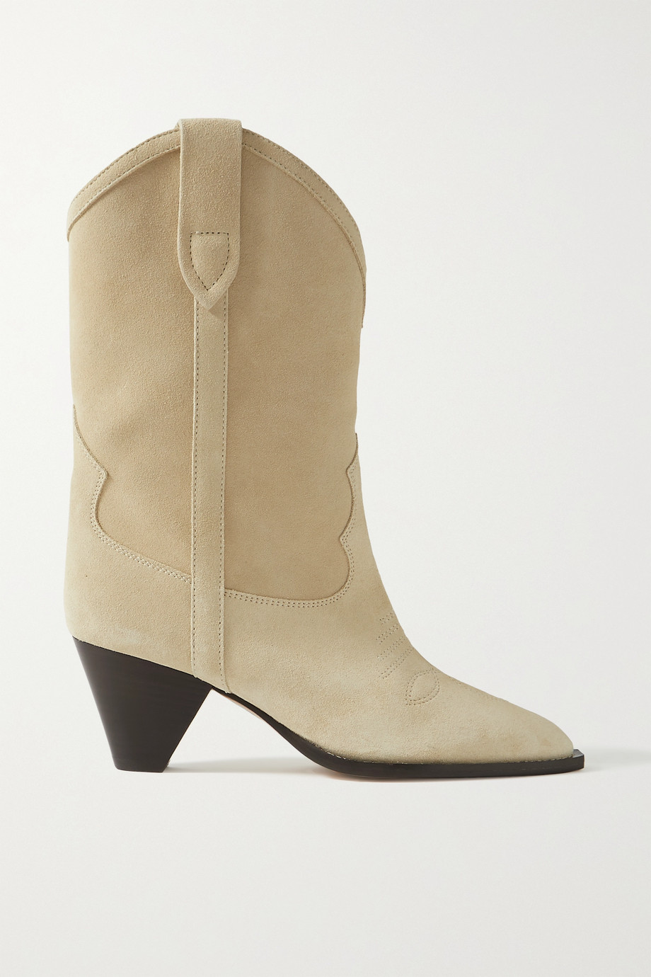 Isabel Marant Luliette embroidered suede ankle boots