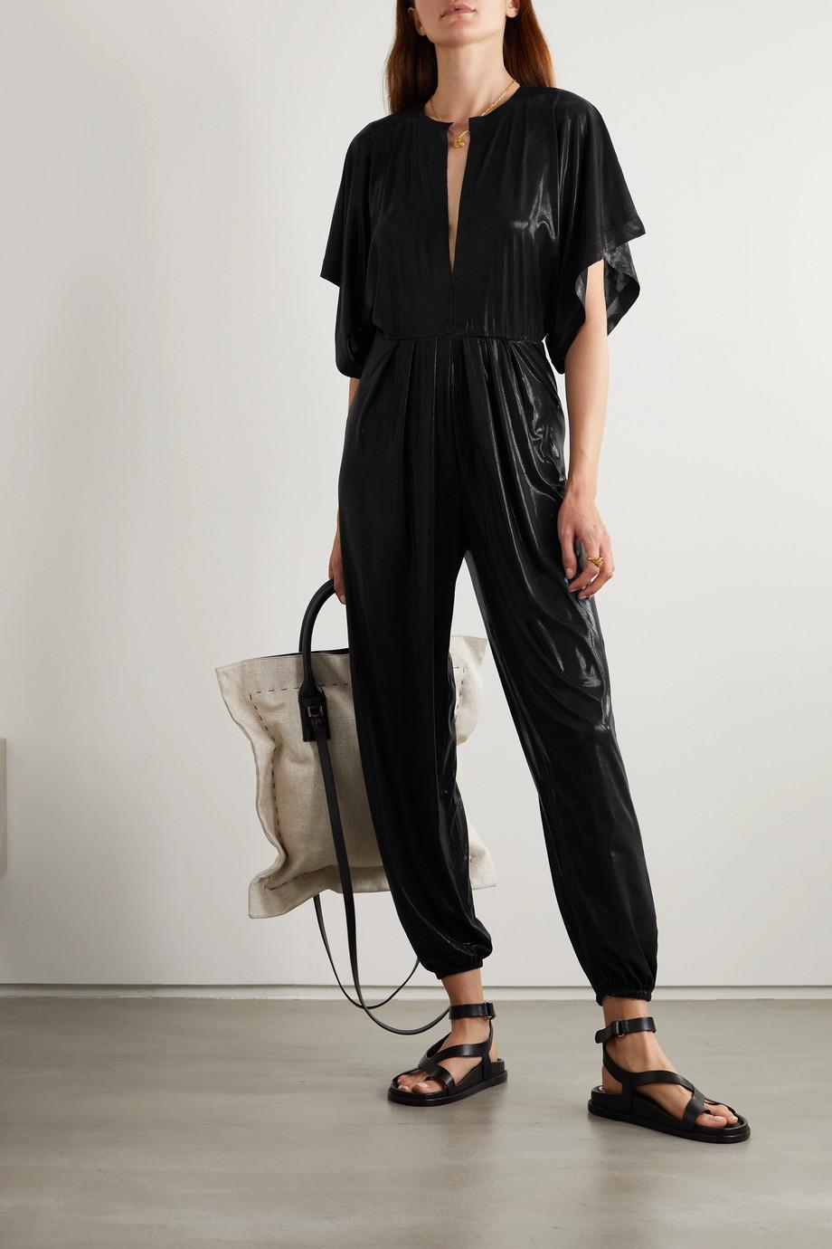 Norma Kamali Combi-pantalon en lamé stretch Rectangle