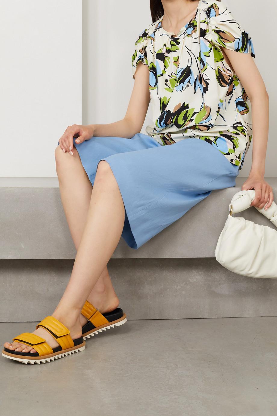 Marni Floral-print cotton-poplin blouse