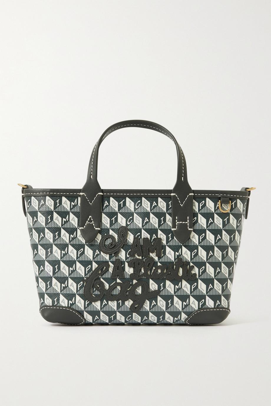 Anya Hindmarch Sac à main en toile enduite imprimée à finitions en cuir I Am A Plastic Bag Mini - NET SUSTAIN
