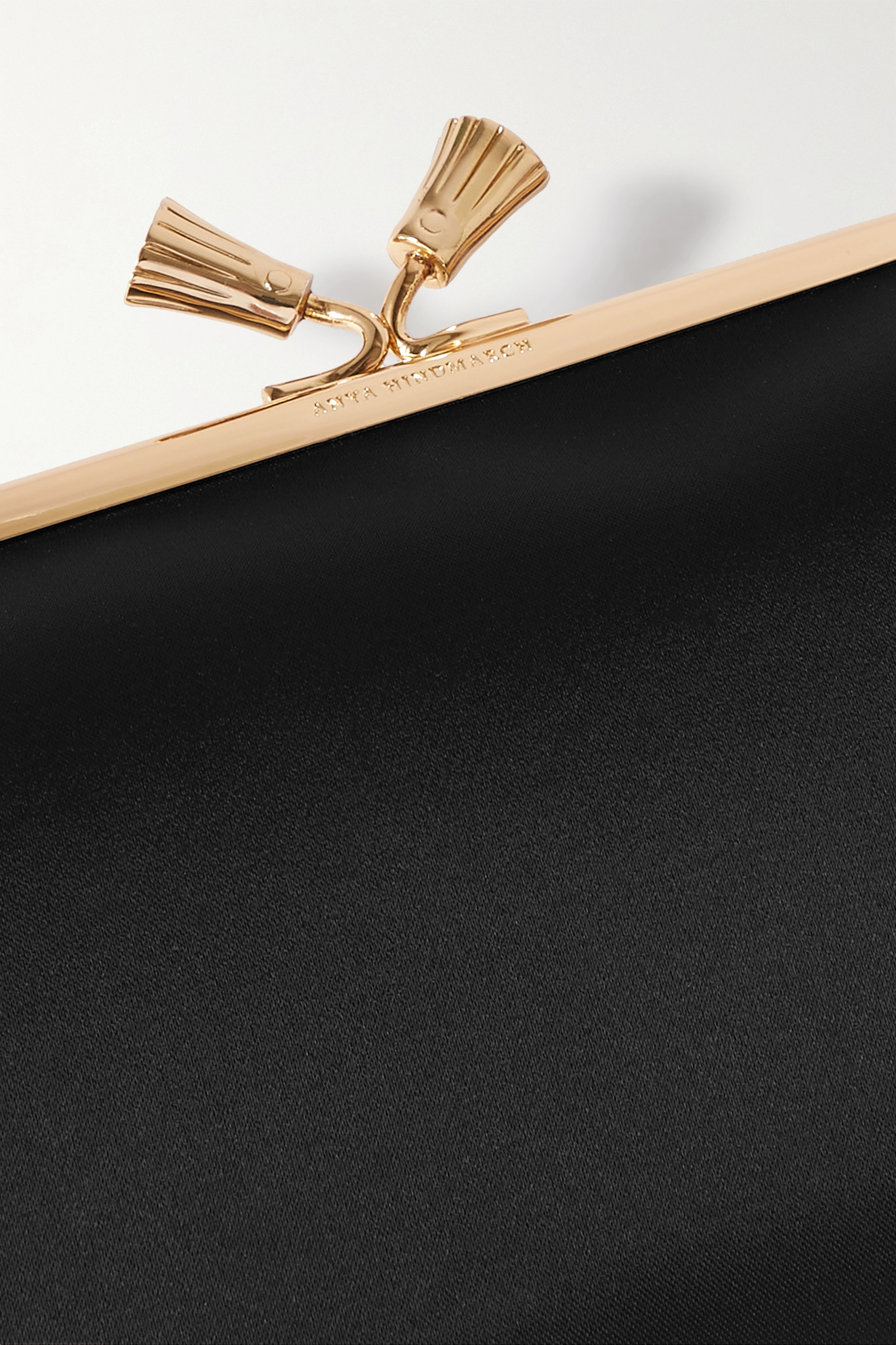 Anya Hindmarch + NET SUSTAIN Maud recycled satin clutch