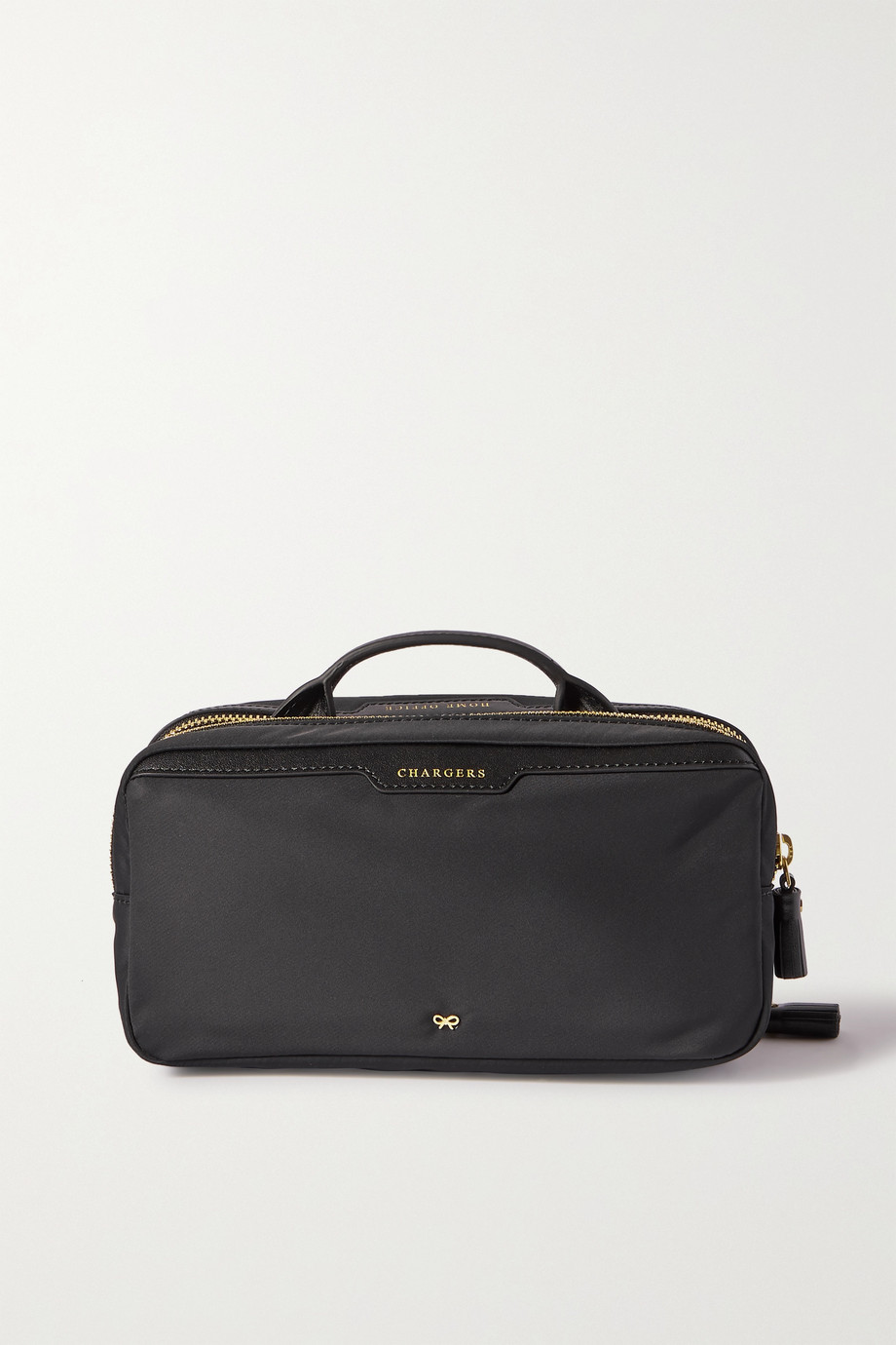 Anya Hindmarch + NET SUSTAIN Home Office leather-trimmed ECONYL pouch