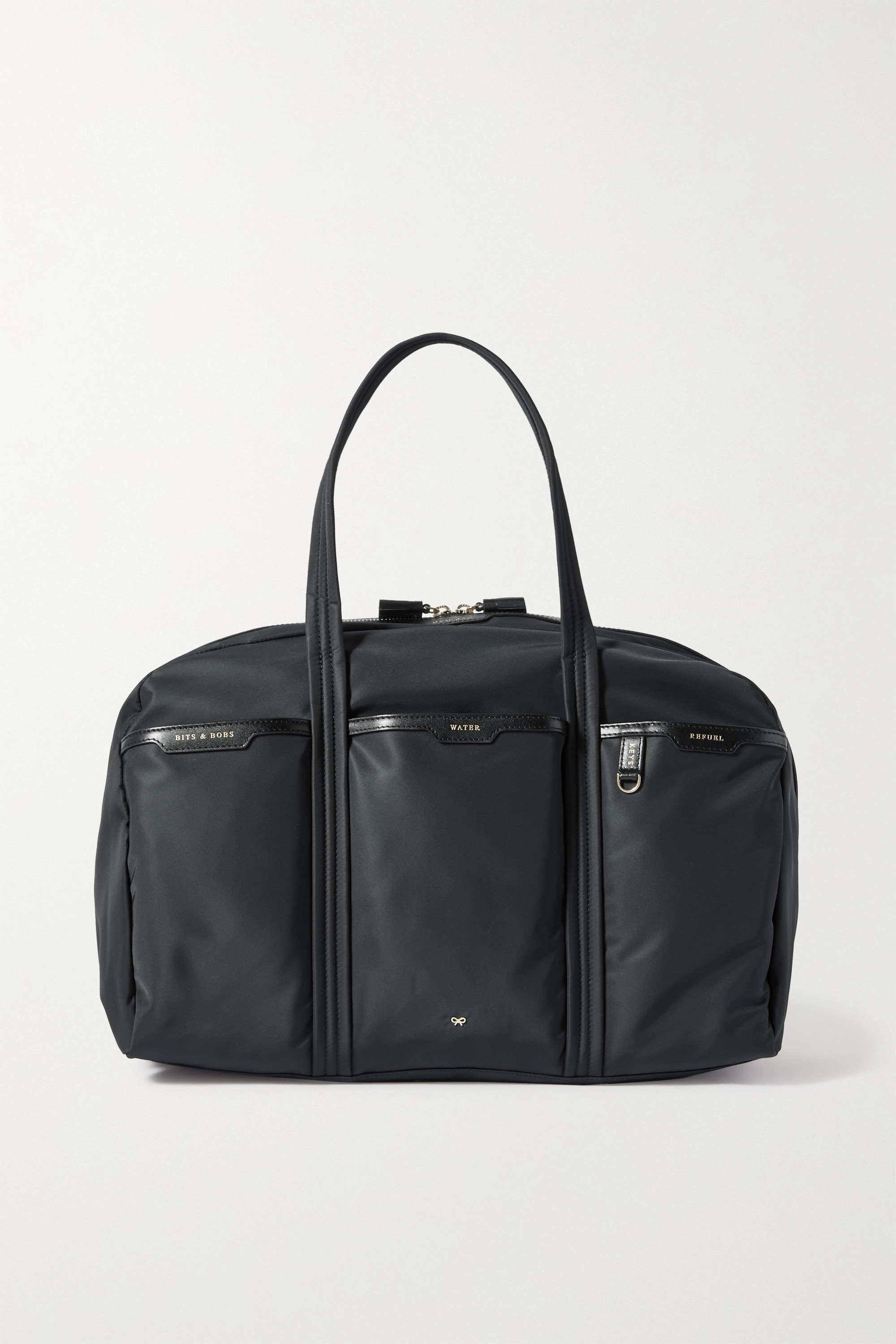 Anya Hindmarch - Gym leather-trimmed recycled shell tote