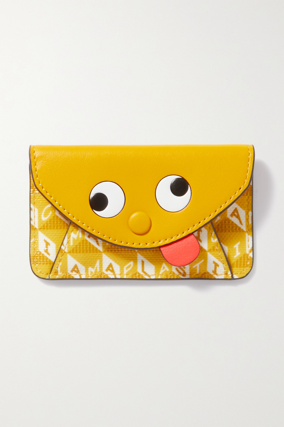 Anya Hindmarch I Am A Plastic Bag leather and and printed recycled coated-canvas cardholder
