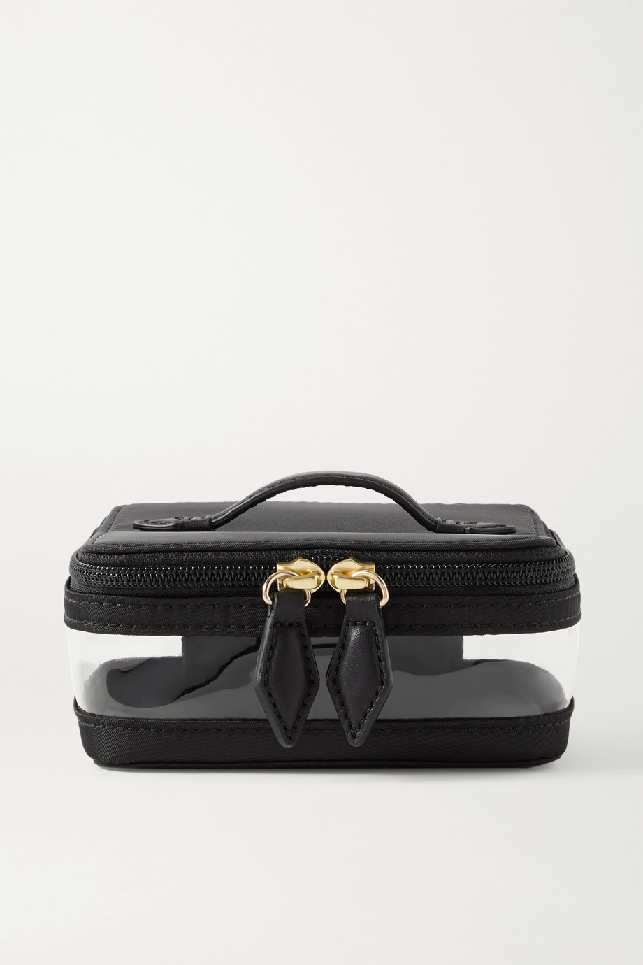 Paravel Mini See-All leather-trimmed nylon and TPU cosmetics case