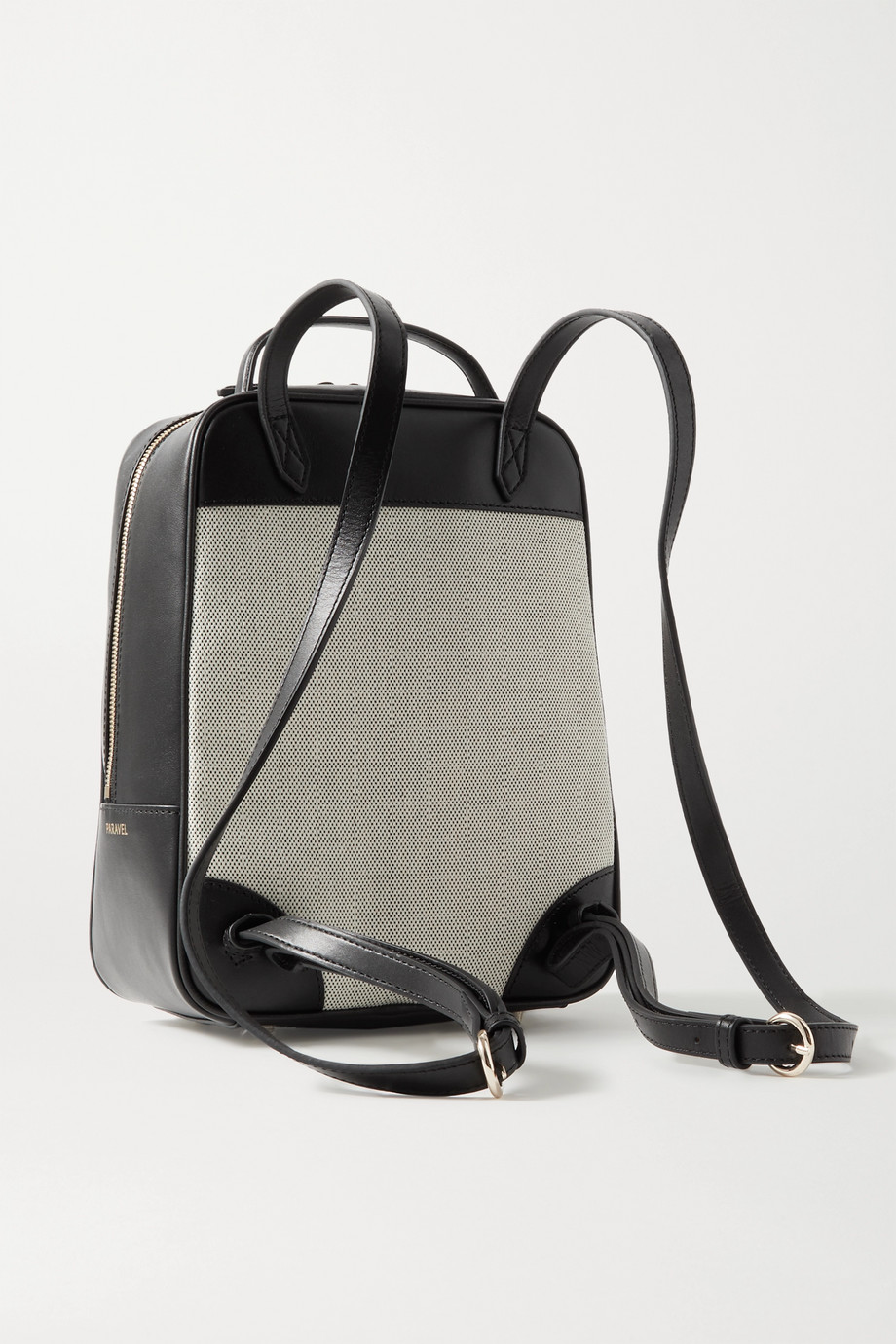 Paravel Scooter leather and canvas backpack