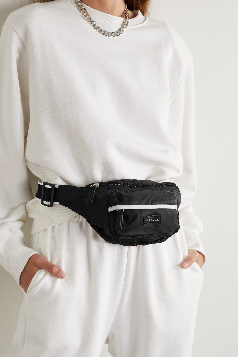Paravel Fold-Up recycled shell belt bag