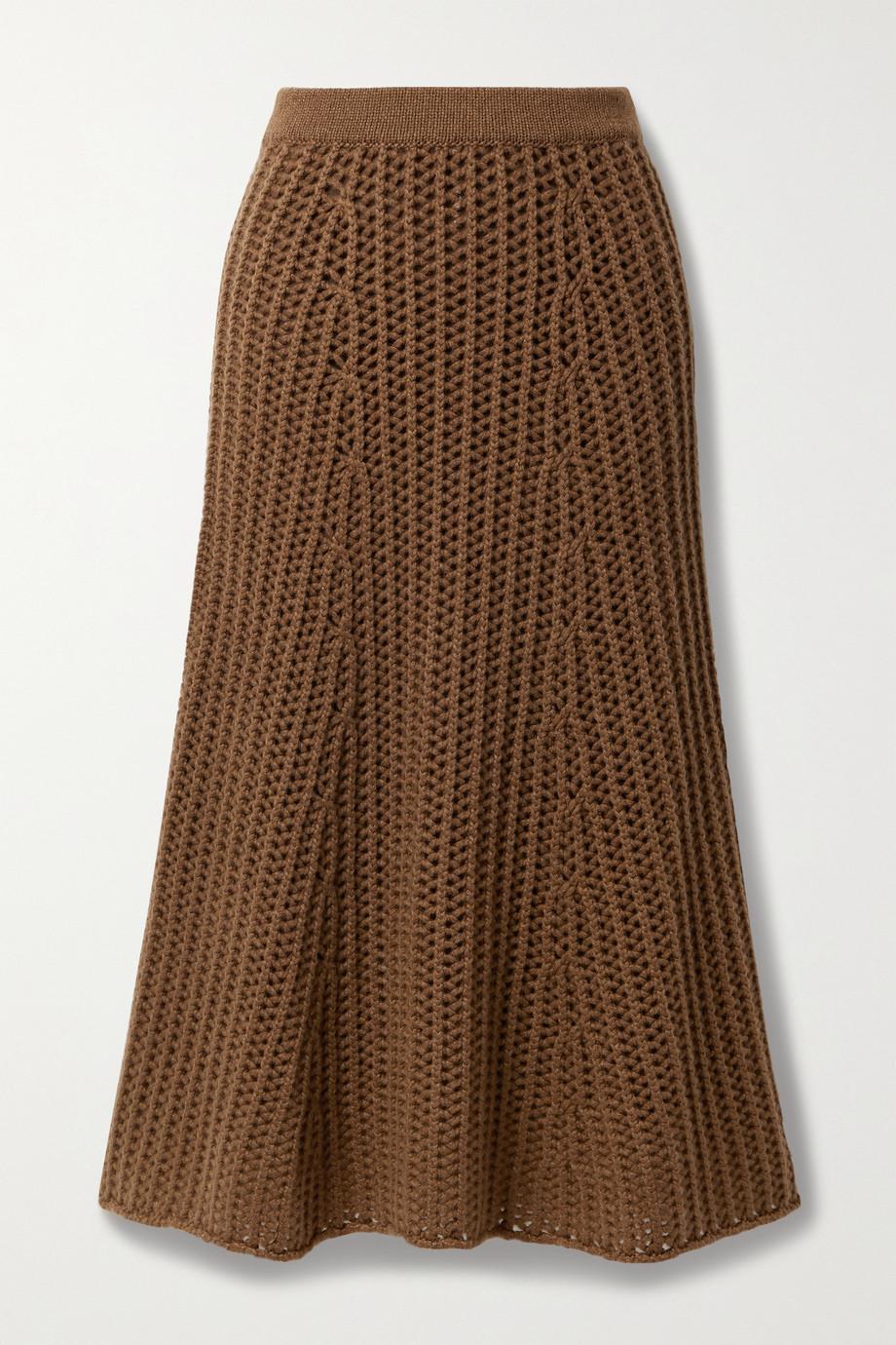Gabriela Hearst Pablo cashmere midi skirt