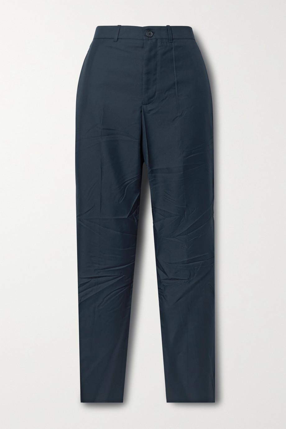 Balenciaga Pantalon slim en serge froissée