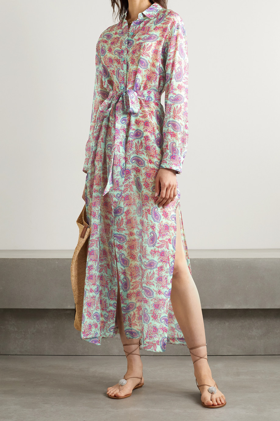 Etro California printed cotton and silk-blend voile shirt dress