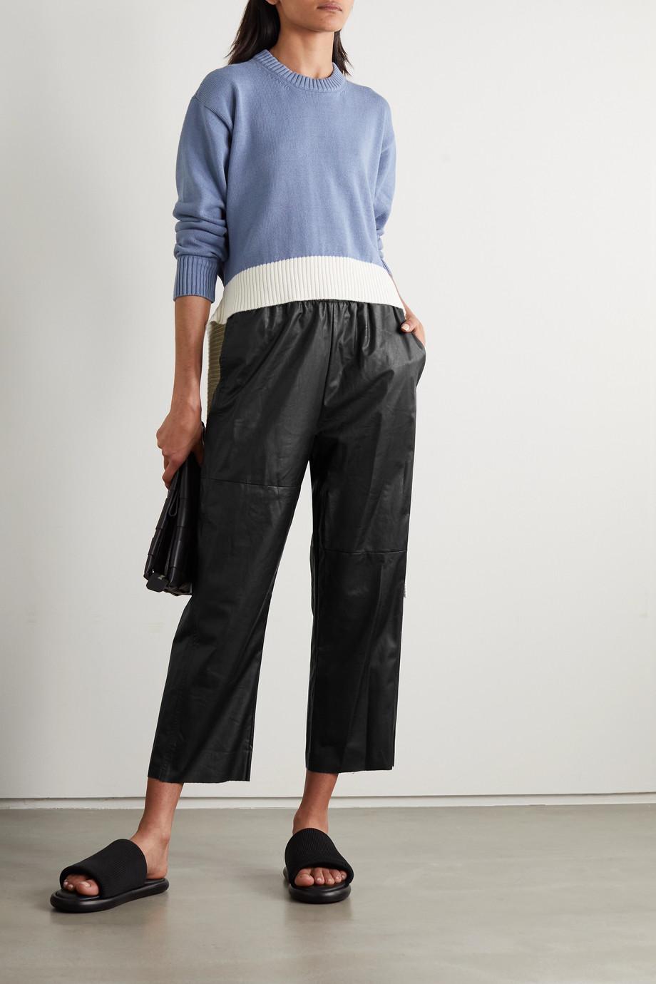 MM6 Maison Margiela Pantalon droit en cuir synthétique