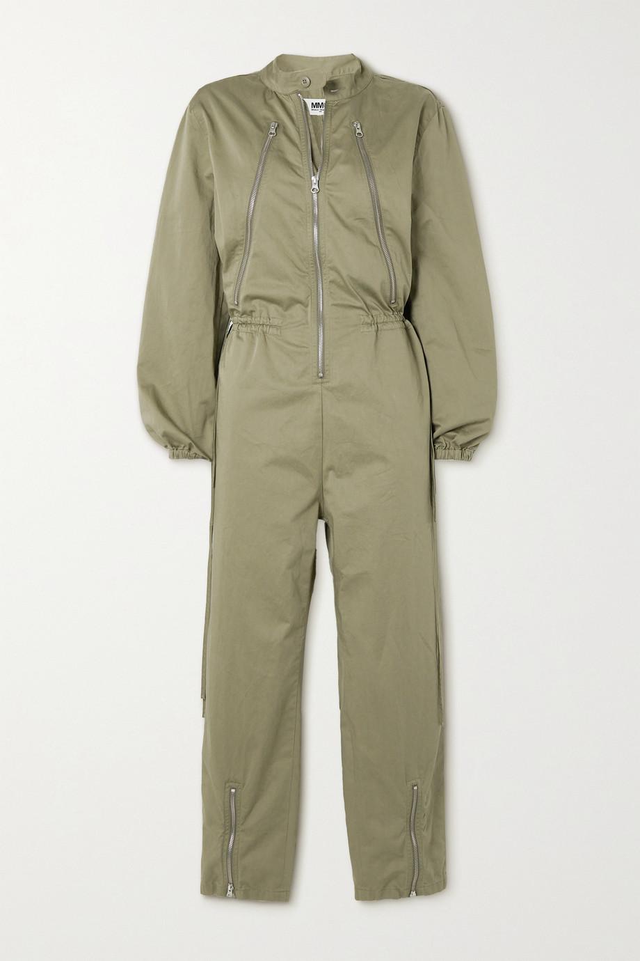 MM6 Maison Margiela Combi-pantalon en coton à fermetures à glissière