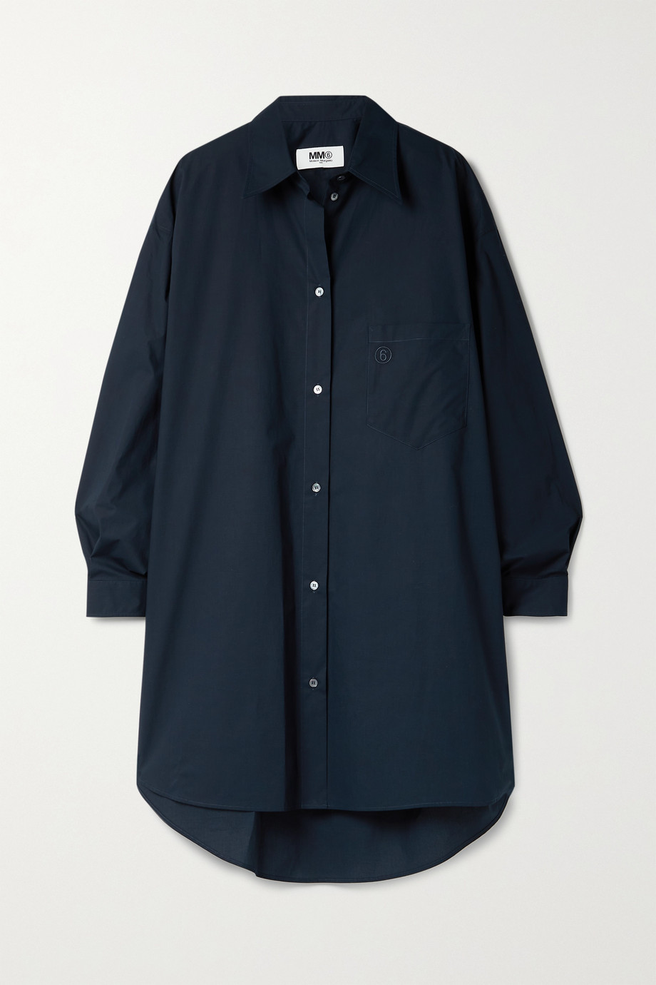 MM6 Maison Margiela Oversized-Hemdblusenkleid aus Baumwollpopeline
