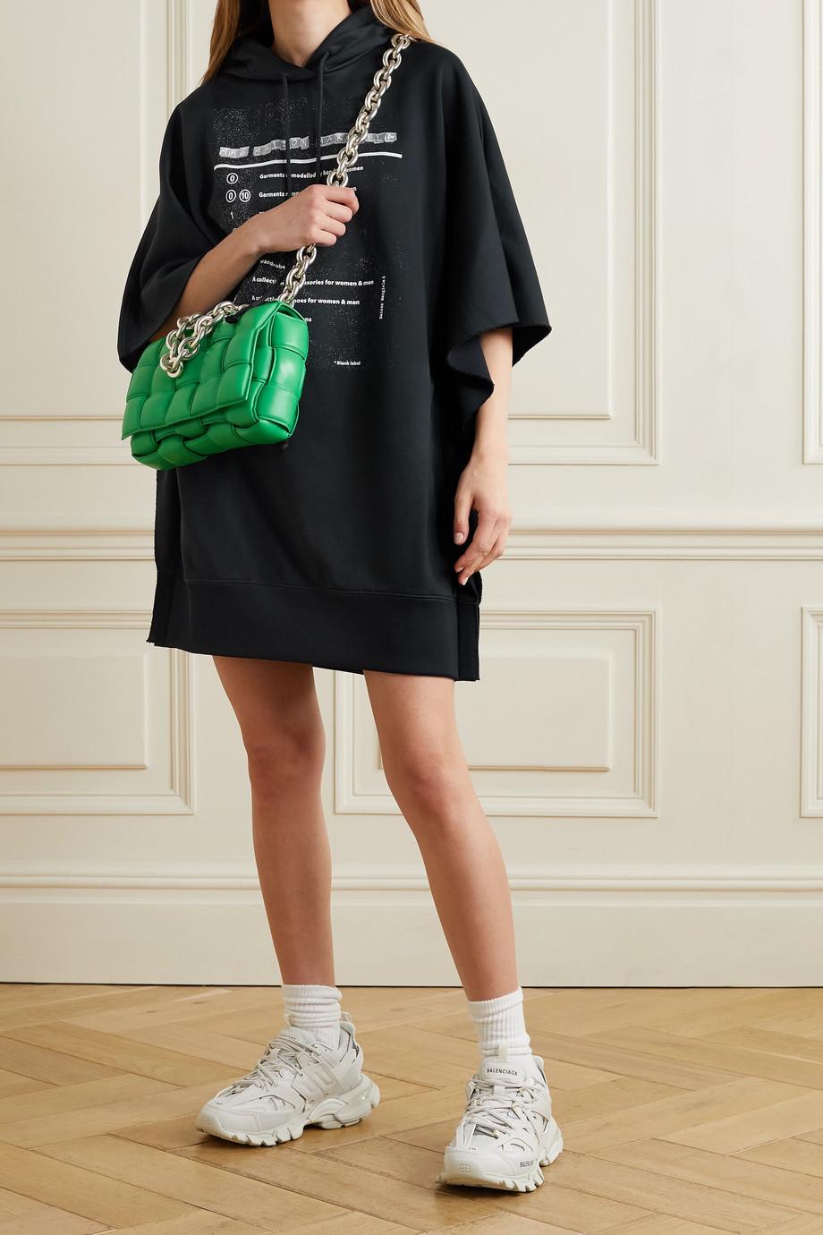 MM6 Maison Margiela Hooded printed French terry mini dress
