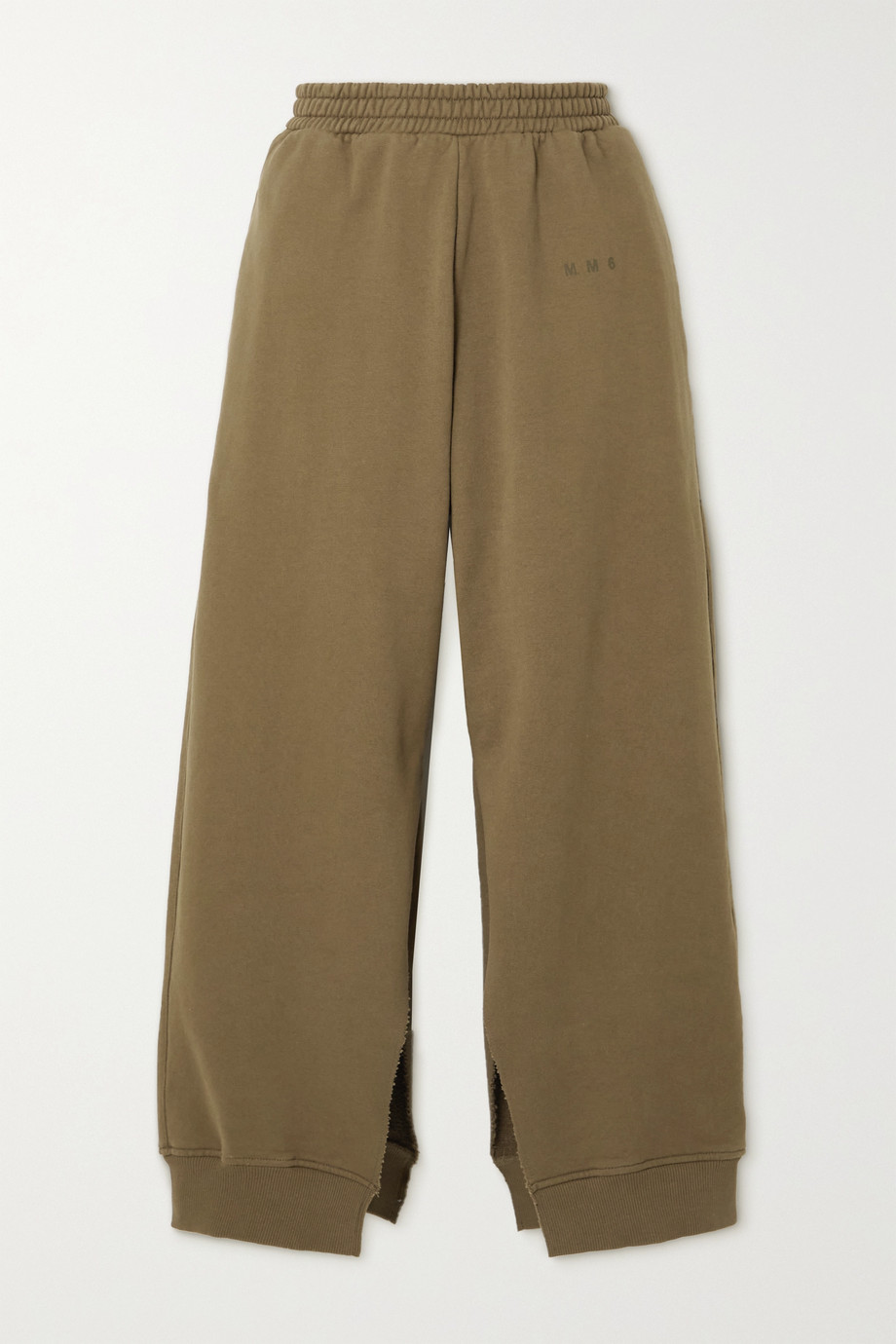 MM6 Maison Margiela Distressed cotton-jersey track pants