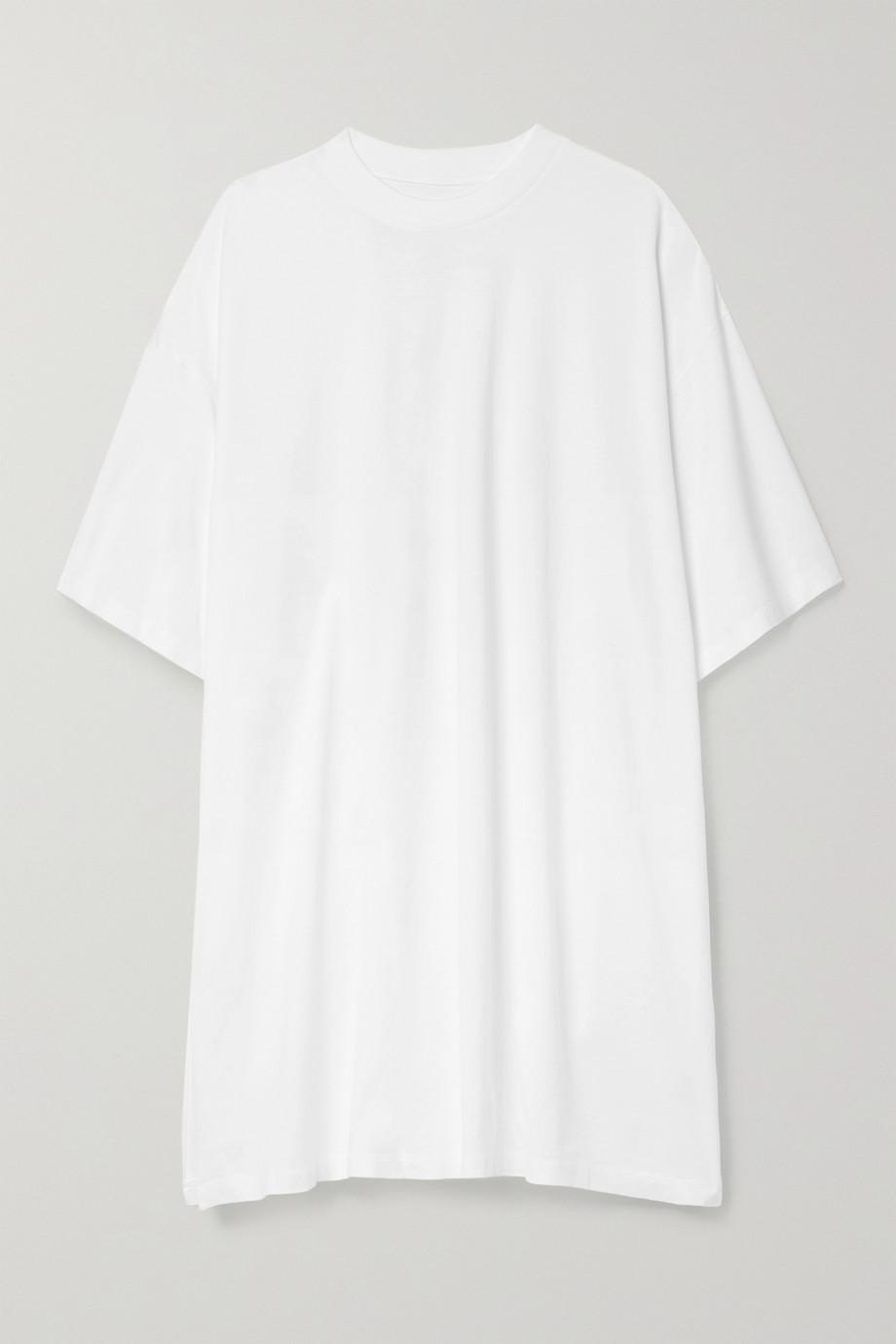 MM6 Maison Margiela Oversized-Minikleid aus Baumwoll-Jersey mit Raffungen