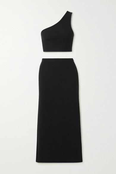 Reformation - Francine Ribbed Stretch-knit Set - Black