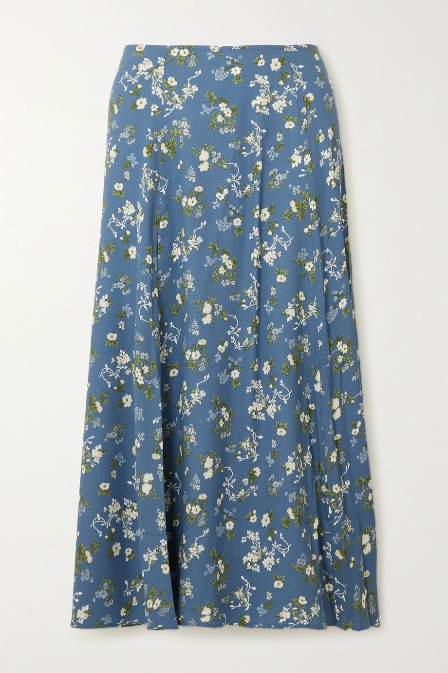 Reformation + NET SUSTAIN Zoe floral-print crepe midi skirt