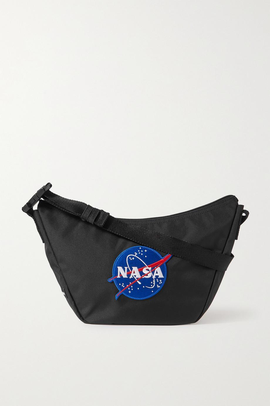 Balenciaga Sac porté épaule en tissu technique à appliqué Space Sling
