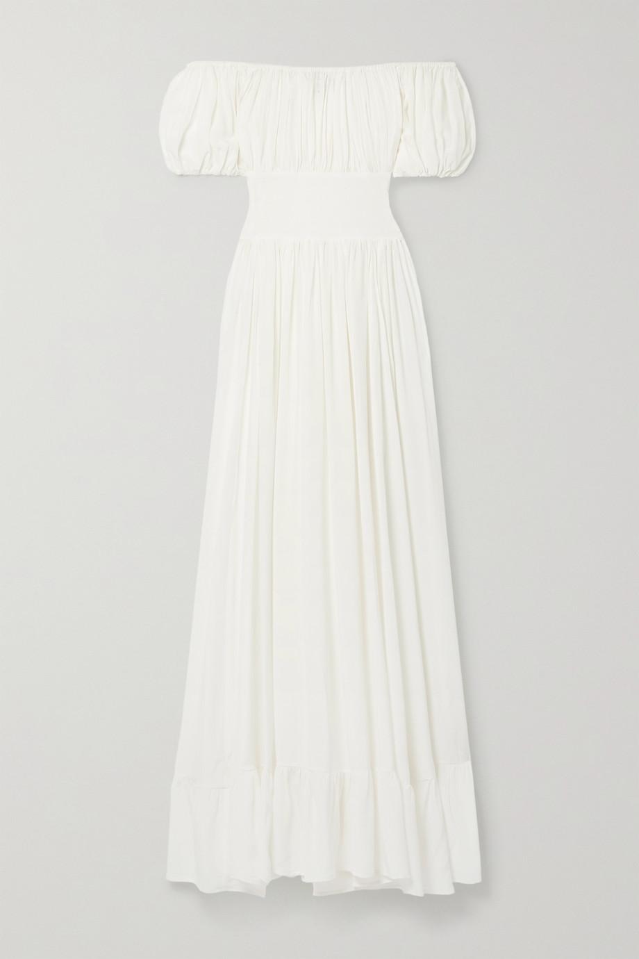 Evarae + NET SUSTAIN Hestia organic mulberry silk maxi dress