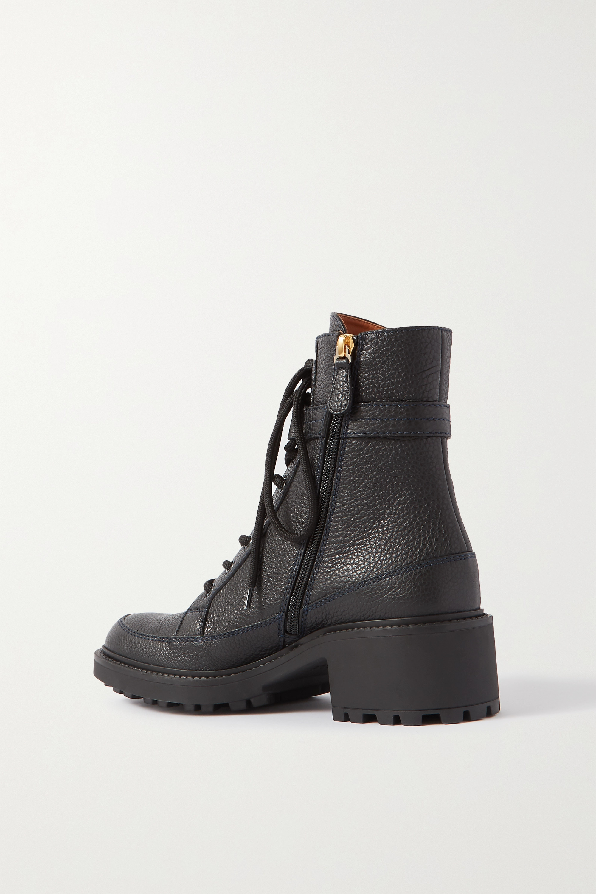 Chloé Darryl embellished textured-leather ankle boots