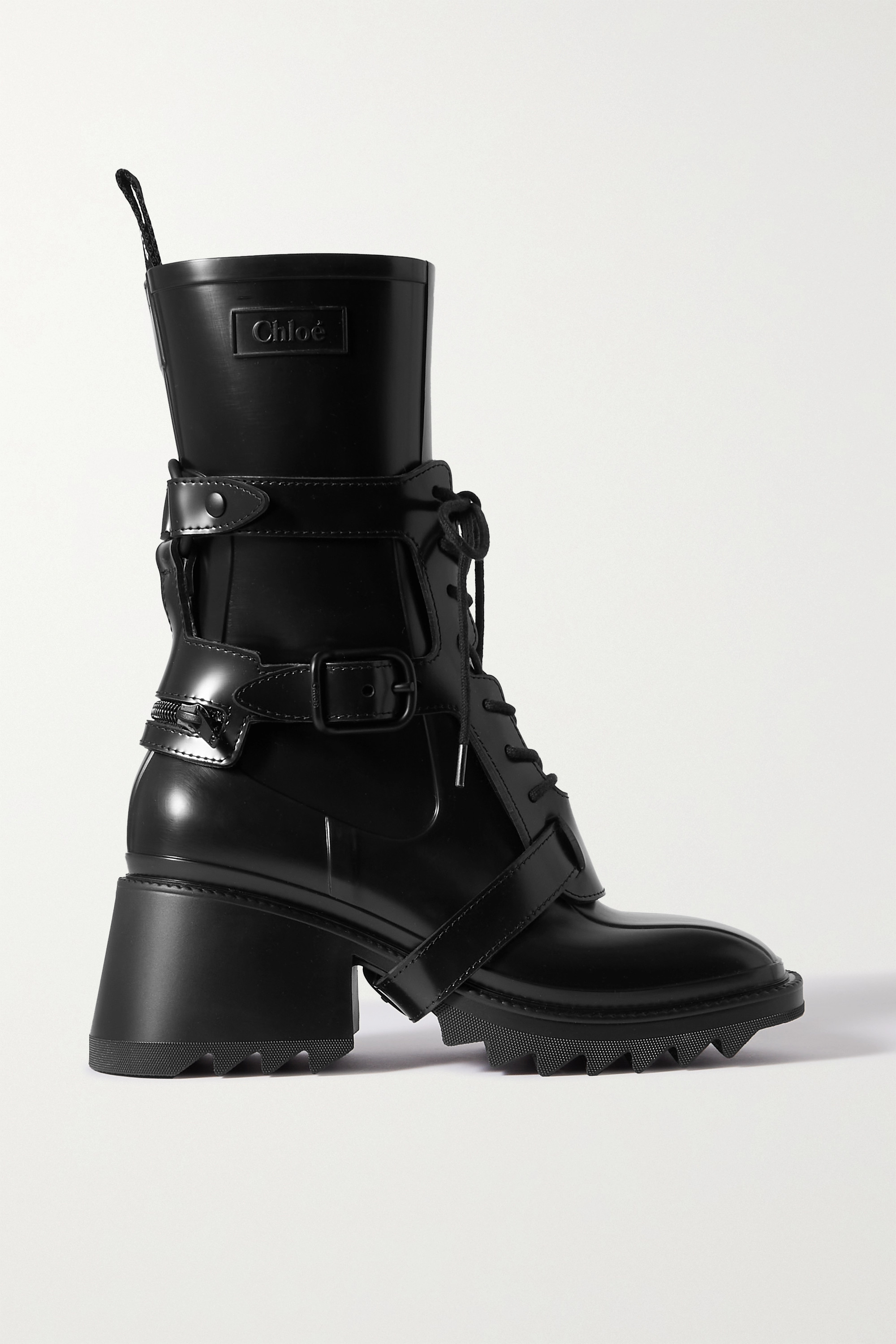 Chloé Betty logo-embossed rubber ankle boots