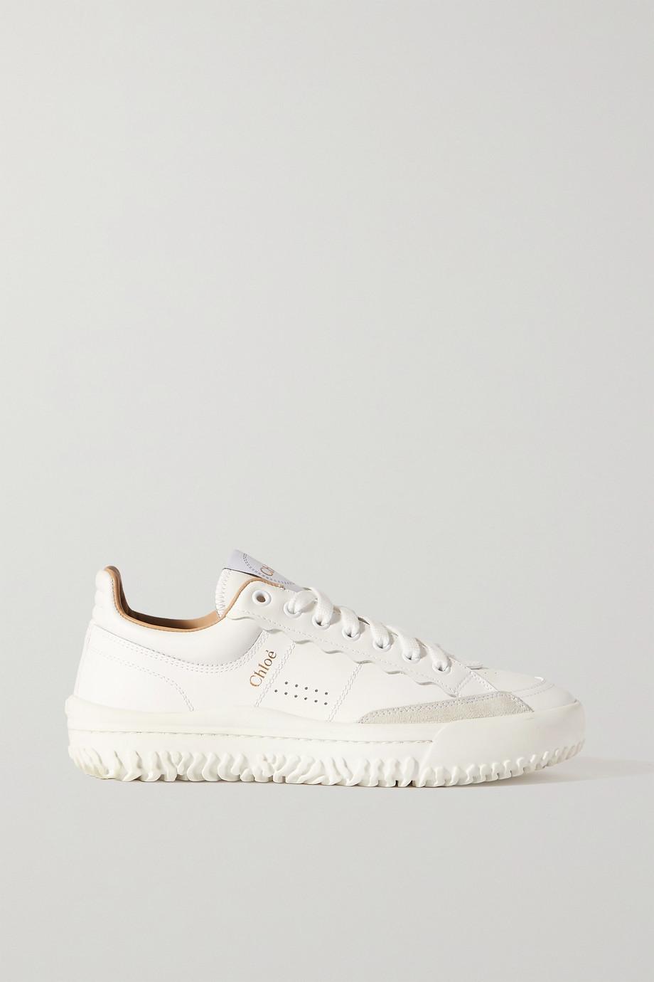 Chloé Franckie Sneakers aus Leder und Veloursleder