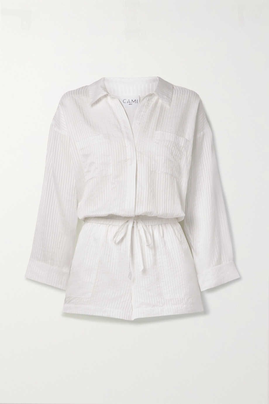Cami NYC Constanse cotton and silk-blend jacquard playsuit