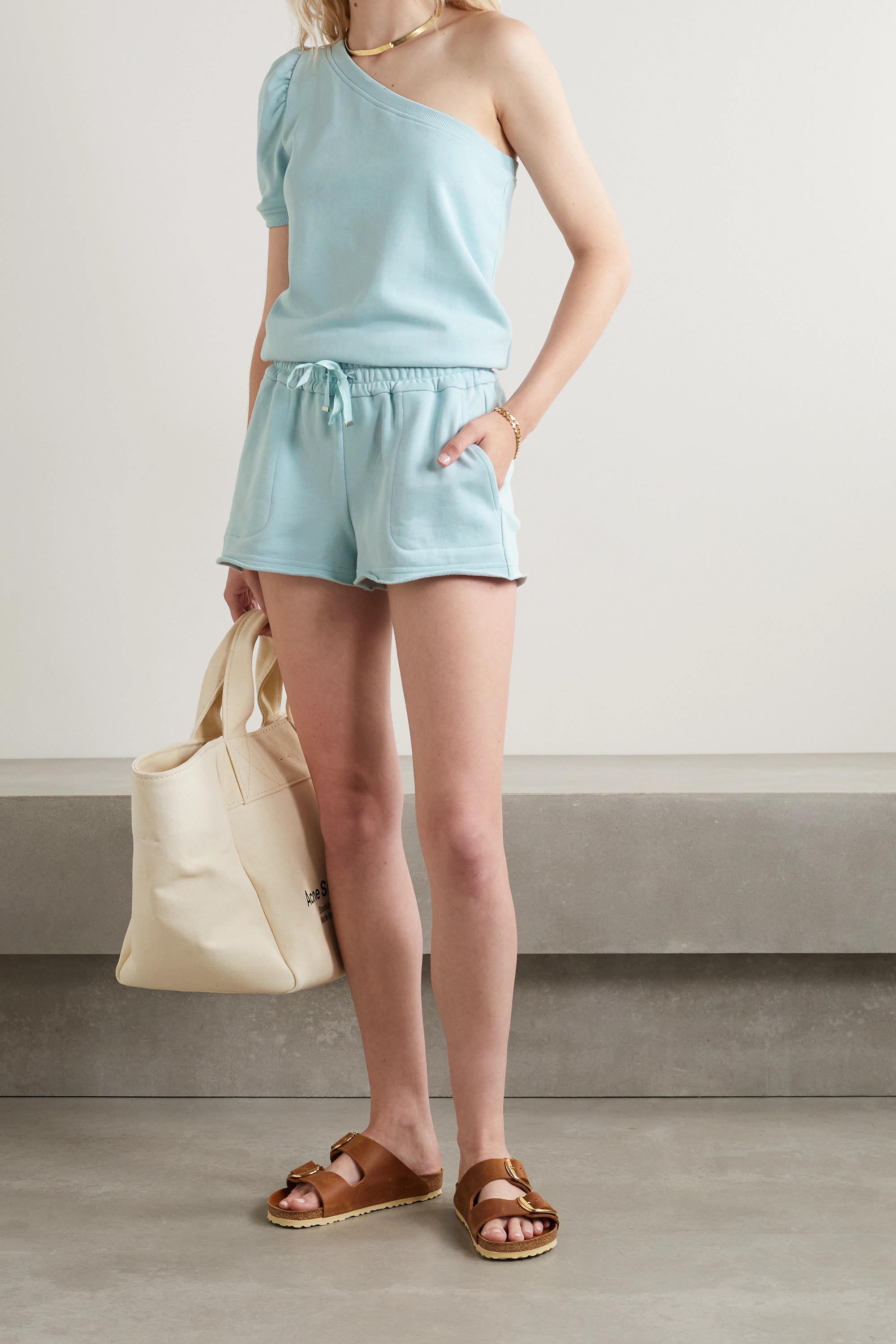 Cami NYC The Lynley French cotton-terry shorts