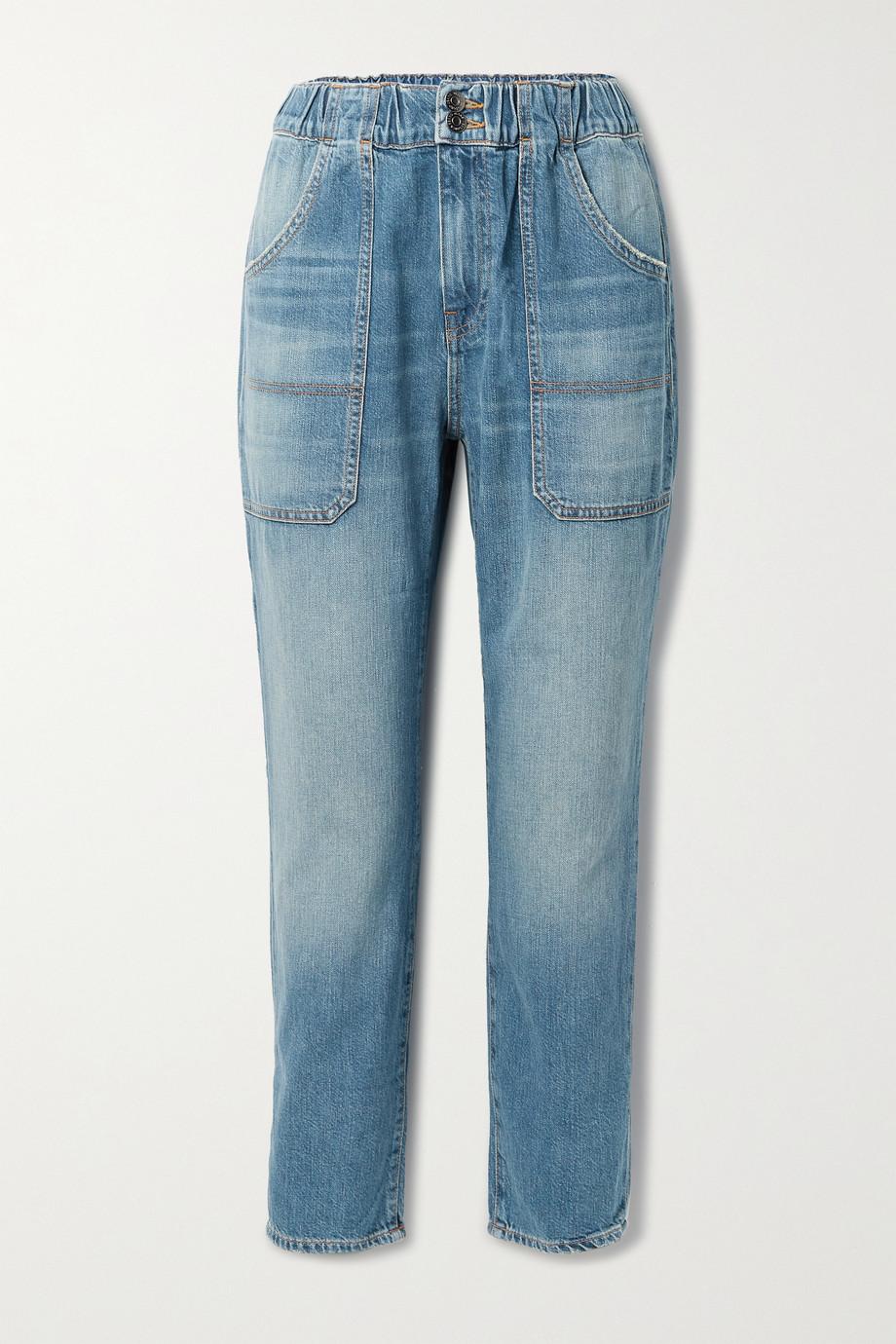 Veronica Beard Arya cropped high-rise straight-leg jeans