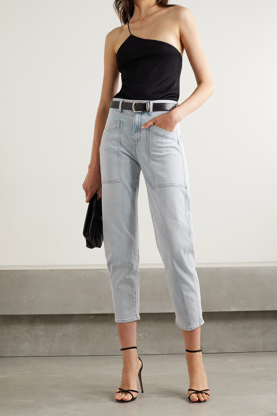 Veronica Beard Charlie high-rise tapered jeans