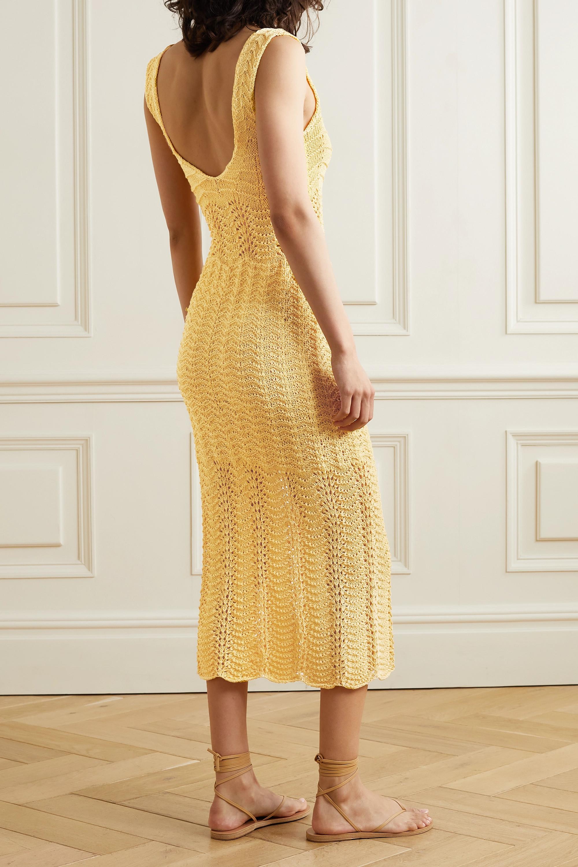 Savannah Morrow The Label + NET SUSTAIN Valentina crocheted organic cotton midi dress