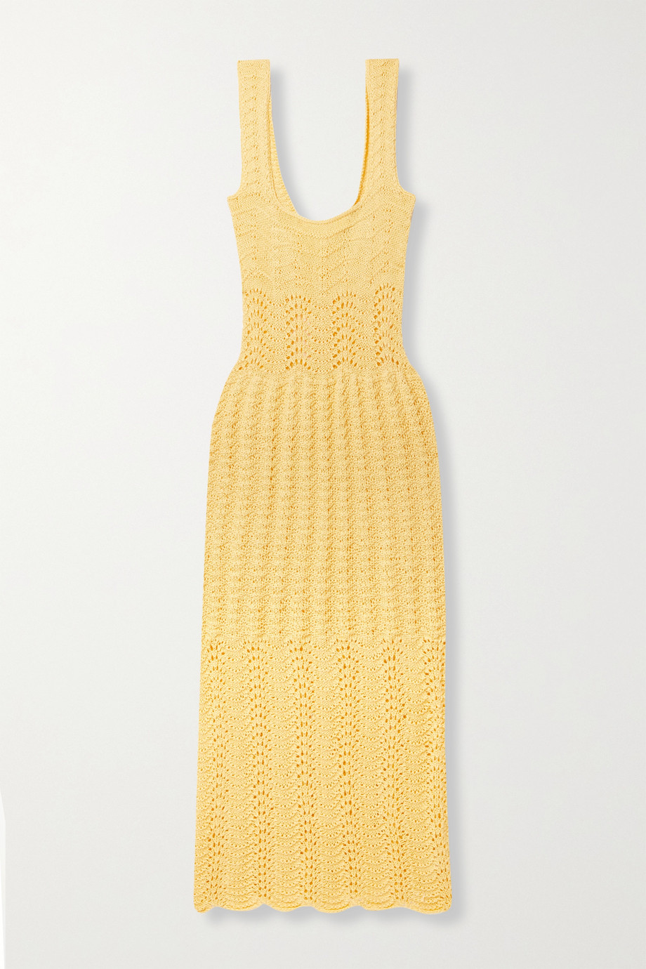 Savannah Morrow The Label + NET SUSTAIN Valentina crocheted organic cotton midi dress