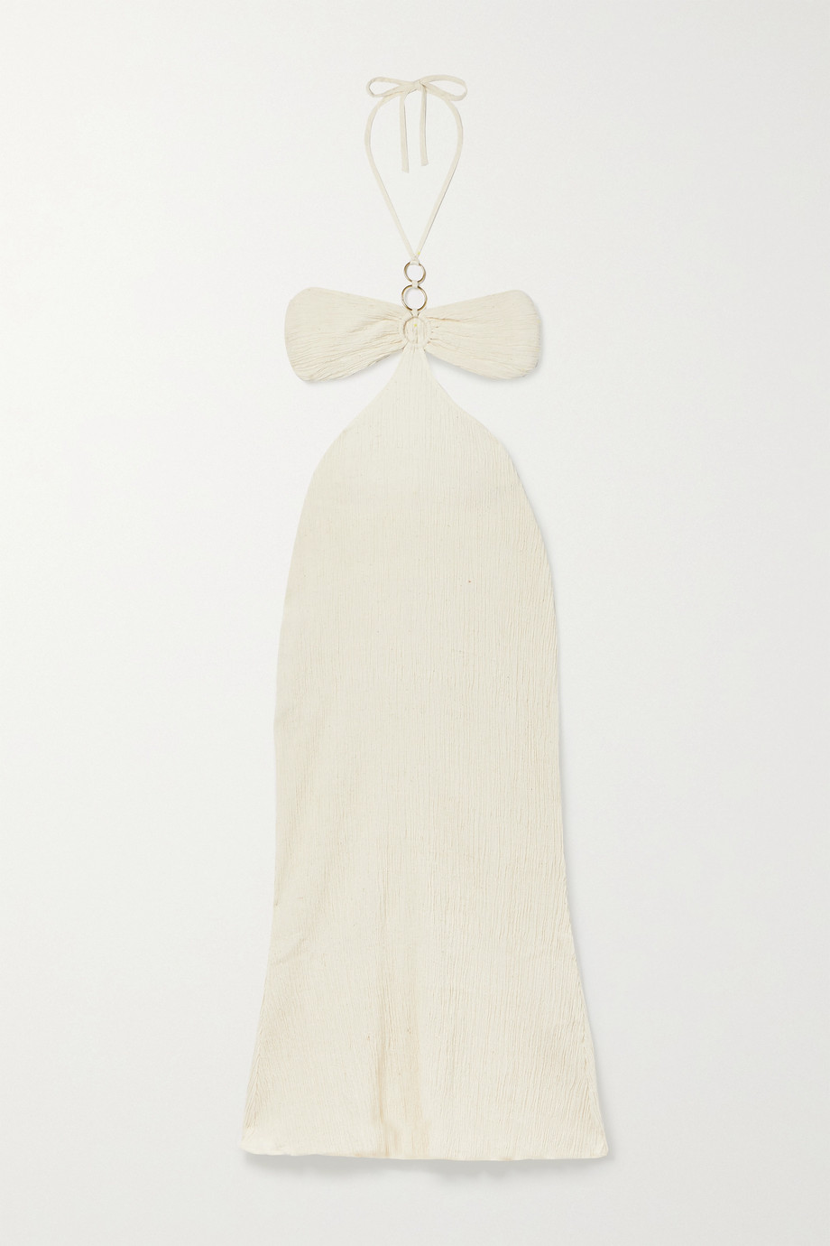 Savannah Morrow The Label + NET SUSTAIN Mina open-back crinkled organic cotton-gauze maxi dress